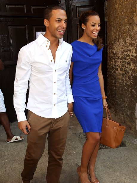 Rochelle Wiseman and Marvin Humes get married.