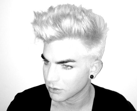 Adam Lambert with blonde hair