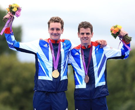 Brothers Alistair And Jonathan Brownlee Win London 2012 Olympic Medals