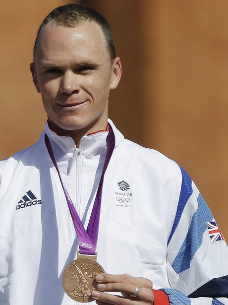 Chris Froome Men's Time Trial Bronze For Team GB