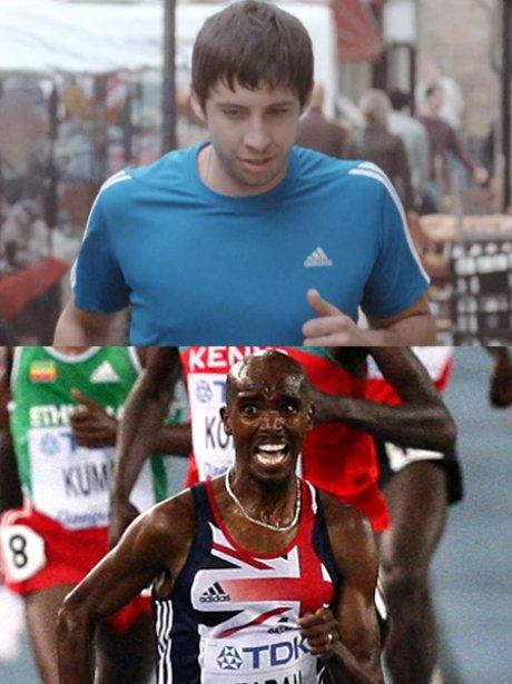 Example and Mo Farah running.