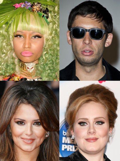 Nicki Minaj, Example, Cheryl, Adele