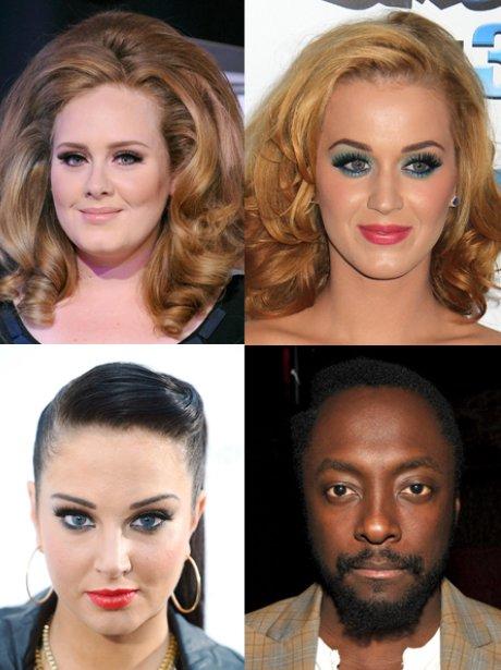 Adele,Katy Perry,Tulisa, Will.I.am