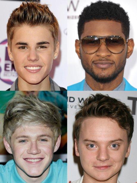 Justin Bieber, Usher, Nial Horan, Conor Maynard