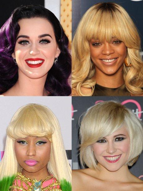 katy Perry, Rihanna, Nicki Minaj, Pixie Lott