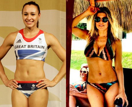 Jessica Ennis and Fergie abs