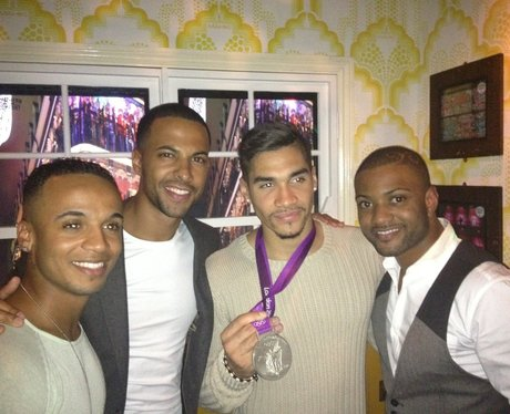 JLS and Olympic gymnast Louis Smith