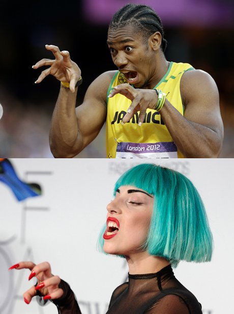 Lady Gaga and Yohan Blake