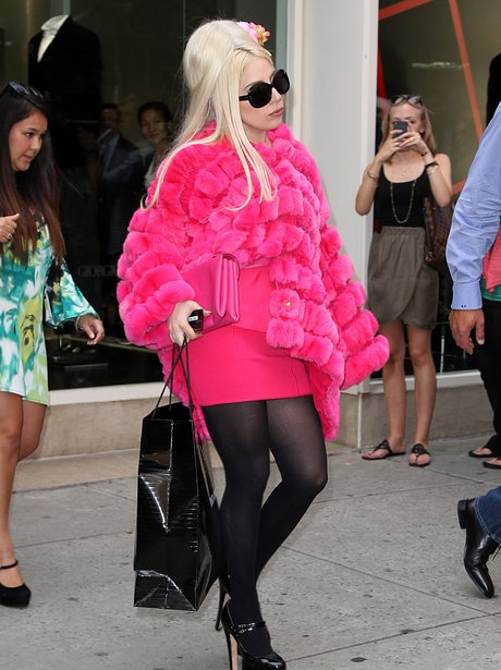 Lady Gaga wearing out in New York City.