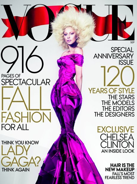 Lady Gaga on the cover of Vogue US.