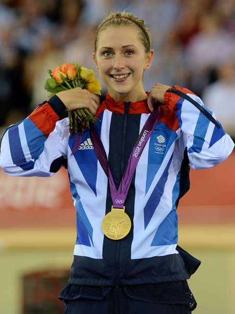 Laura Trott with her Olympic medal.