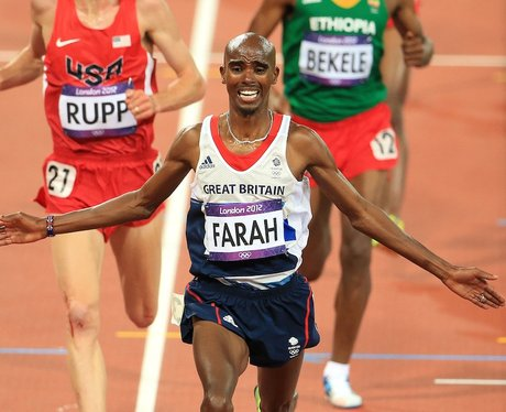 Mo Farah Winning the 10,000 Metres At The London 2012 Olympic Games