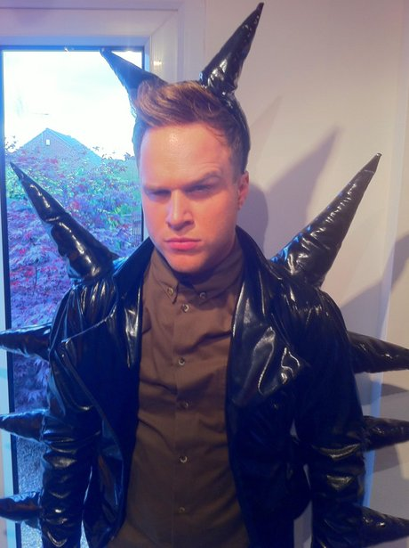 Olly Murs wears a spikey outfit