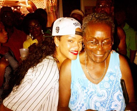 Rihanna with her grandma