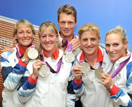 Team GB Featuring Zara Philips Win Silver in Equestrian Team Eventing At London 2012