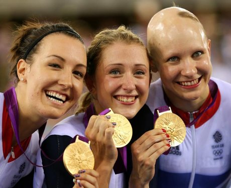 Dani King, Laura Trott And Joanna Rowsell Win The Olympic Women's Team Pursuit Gold