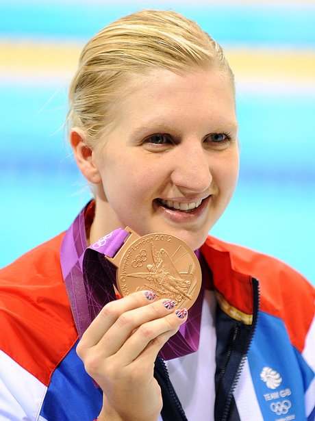 Rebecca Adlington Wins Bronze At The London 2012 Olympic Games