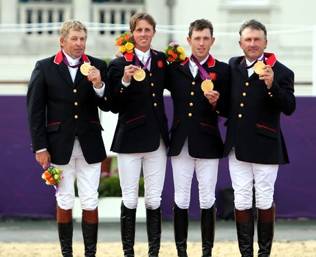 Team GB Win Olympic Gold In The Equestrian Team Jumping Event At The London 2012 Olympics