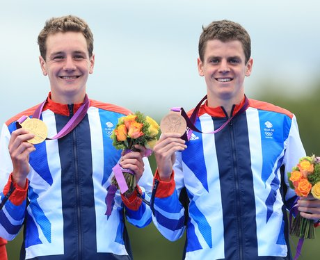 The Brownlee Brothers with their Olympic medals.