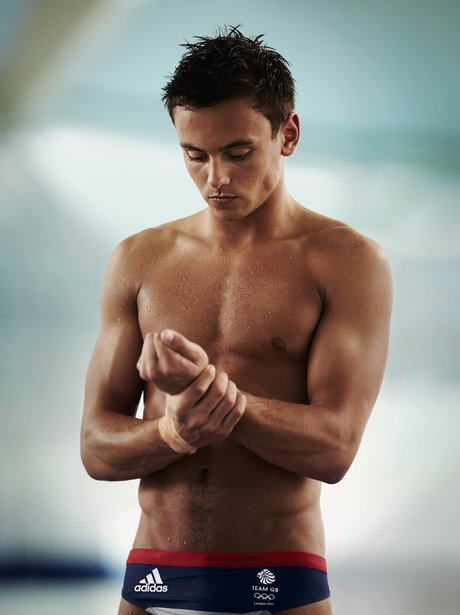 Tom Daley topless