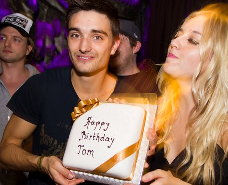 Tom Parker celebrates his birthday with his girlfriend.