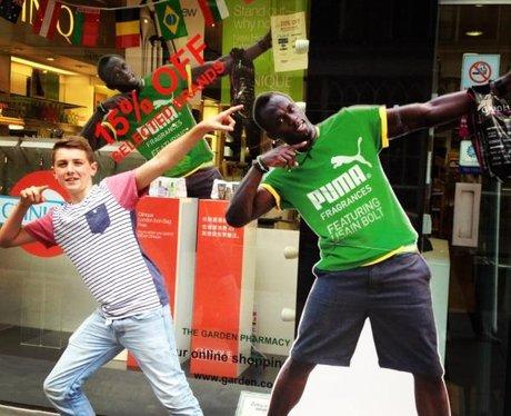 Usain Bolt impression