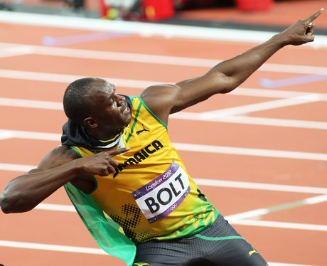 Usain Bolt doing his signature pose