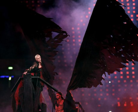 Annie Lennox performs at the Olympics closing ceremony.