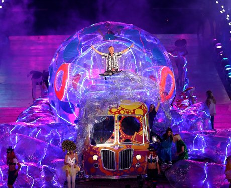 Fatboy Slim at the London 2012 closing ceremony.