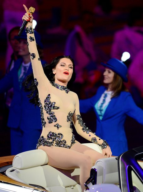 Jessie J performs at the 2012 Olympic closing ceremony.
