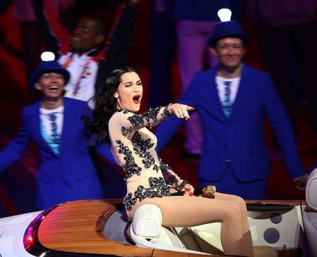 Jessie J at the Olympics closing ceremony.