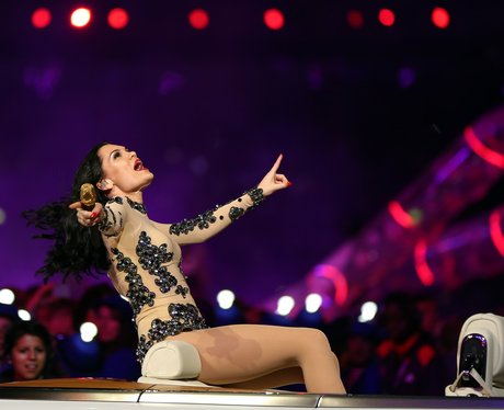 Jessie J live at the London 2012 closing ceremony.