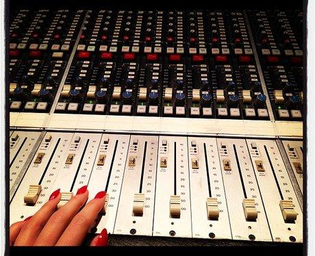 Jessie J back in the recording studio.