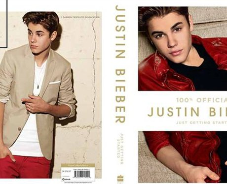 Justin Bieber's official new book cover.