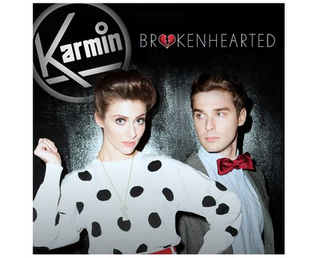 Karmin's 'Brokenhearted' single cover.