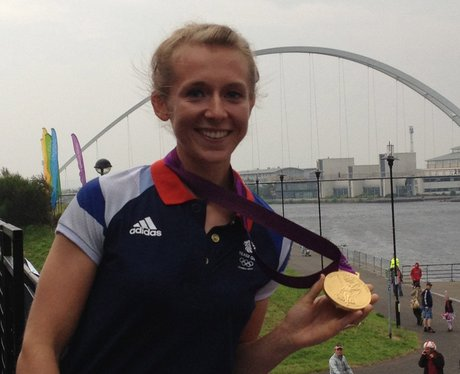 Kat Copeland with her Gold medal