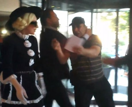 Lady Gaga bodyguards take down a fan