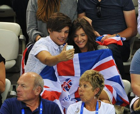 Louis Tomlinson and girlfriend Elenor Calder at Ol