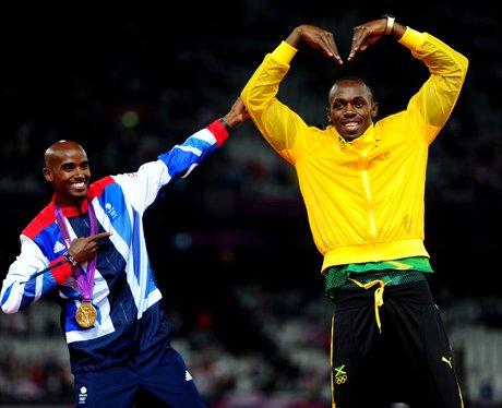 Mo Farah and Usain Bolt at London 2012