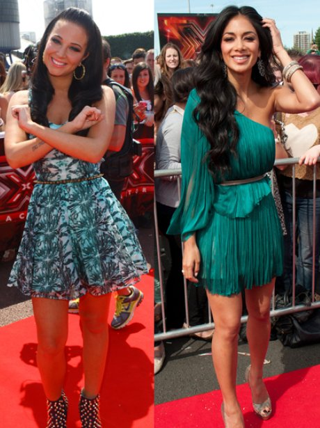 Nicole Scherzinger and Tulisa at the x factor auditions