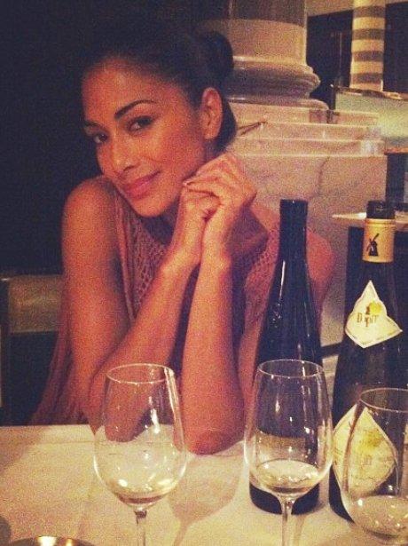 Nicole Scherzinger out for dinner.