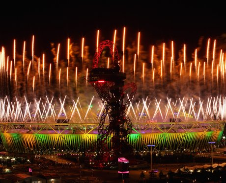 Fireworks at the London 2012 closing ceremony.