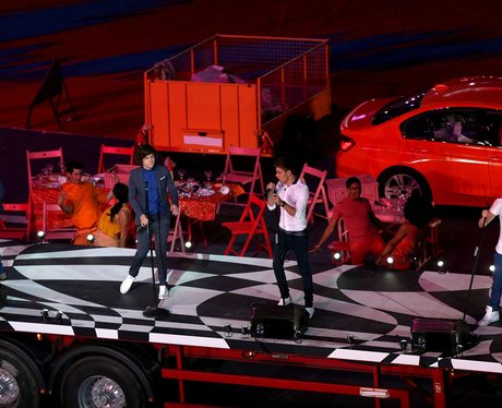 One Direction live at the London 2012 closing ceremony.