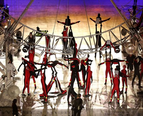 Performers at the 2012 Olympic Closing Ceremony.
