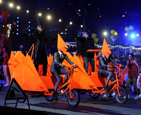 Pet Shop Boys at the Olympic closing ceremony.