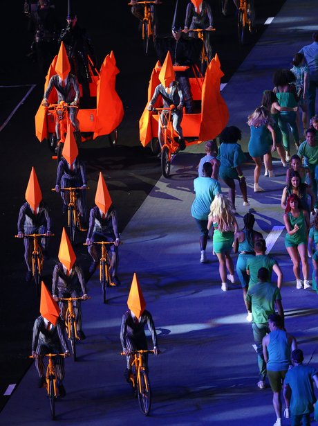 Pet Shop Boys at the closing ceremony.