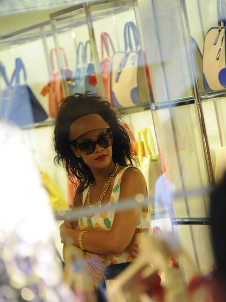 Rihanna shopping on her holiday.