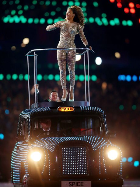 Mel B performs with Spice Girls at the closing ceremony.