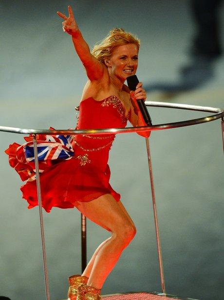 Geri Halliwell at the London 2012 closing ceremony.