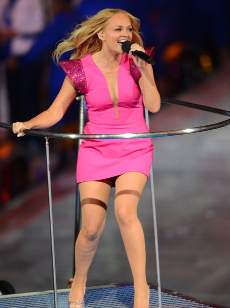 Emma Bunton performs with Spice Girls.